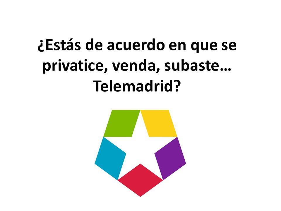 ¿Estás de acuerdo en que se privatice, venda, subaste… Telemadrid?
