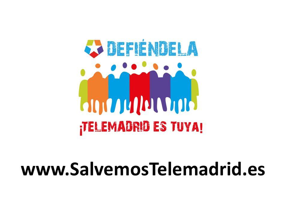 Defiende lo público Defiende lo tuyo, defiende lo de todos Defiende la Televisión Pública de Madrid