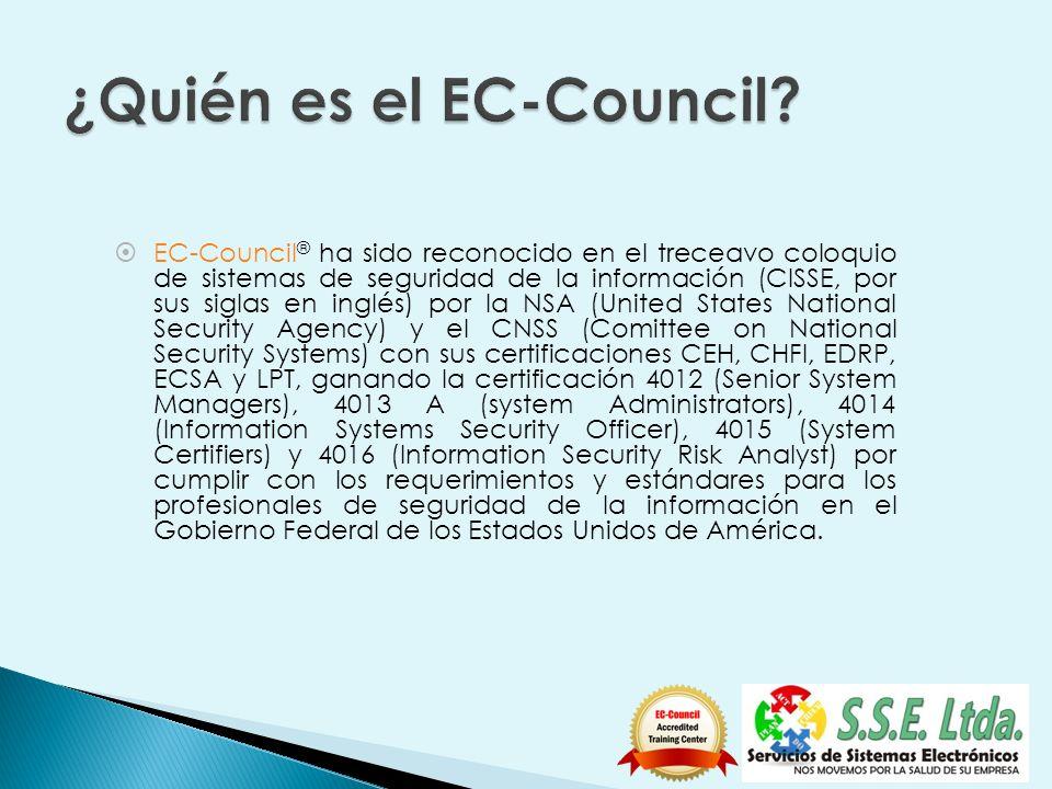 EC-Council ® ha sido reconocido en el treceavo coloquio de sistemas de seguridad de la información (CISSE, por sus siglas en inglés) por la NSA (Unite