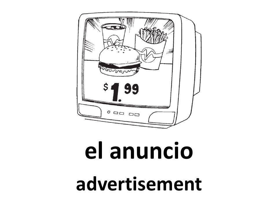 el anuncio advertisement