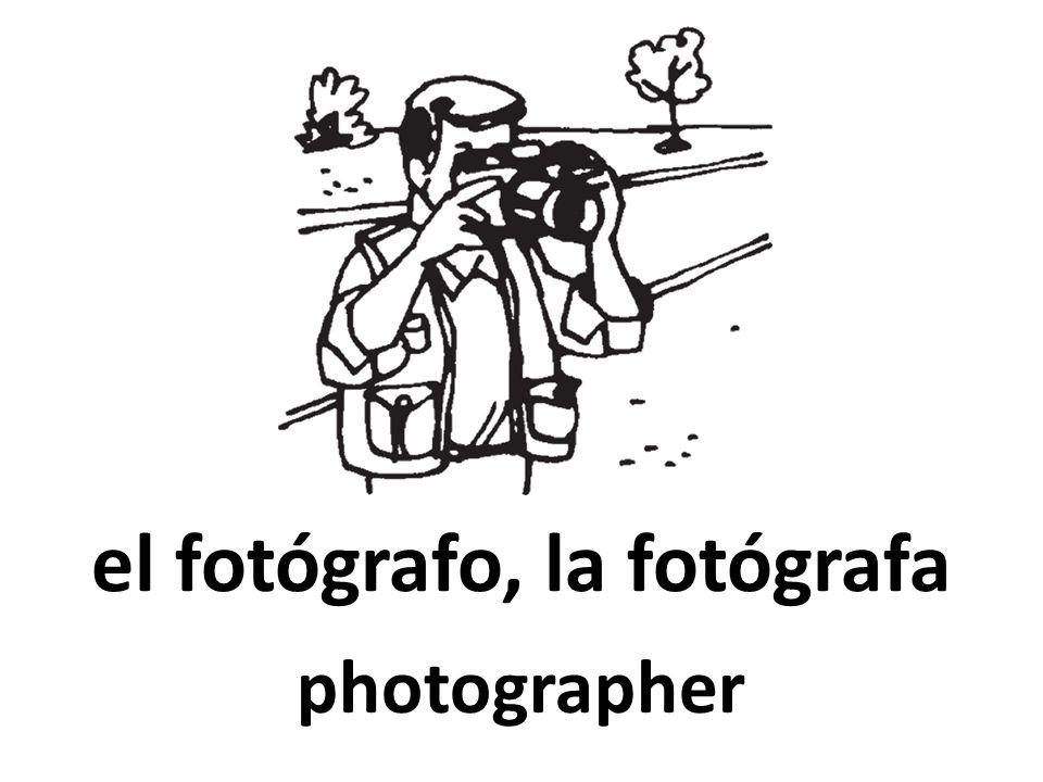 el fotógrafo, la fotógrafa photographer