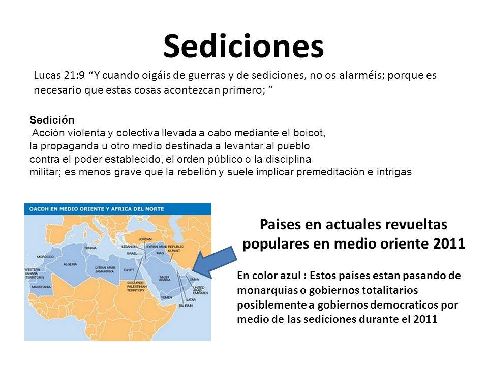 Sediciones Sedición Acción violenta y colectiva llevada a cabo mediante el boicot, la propaganda u otro medio destinada a levantar al pueblo contra el