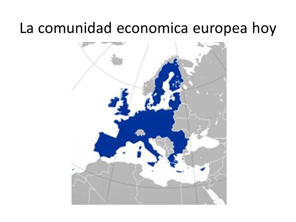 La comunidad economica europea hoy