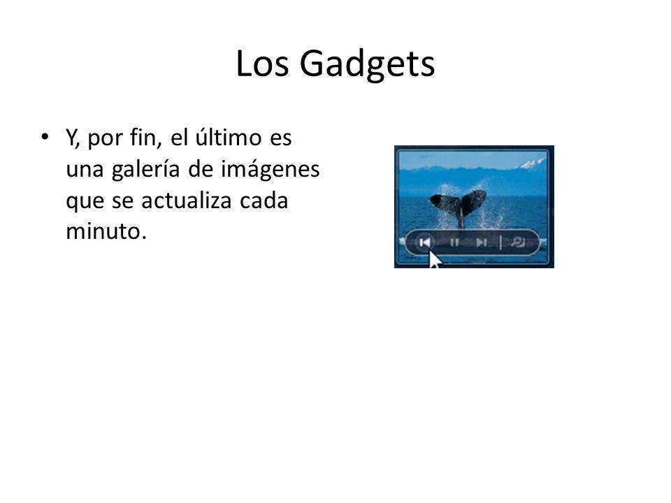 Los Gadgets Y, por fin, el último es una galería de imágenes que se actualiza cada minuto.