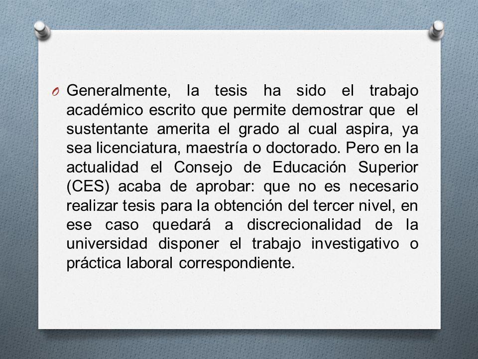 O Según el presidente del Consejo de Educación Superior (CES), Marcelo Cevallos, (2013) las tasas de titulación son muy bajas y oscilan entre 3% y 14%.