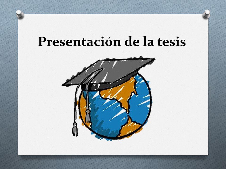 Presentación de la tesis