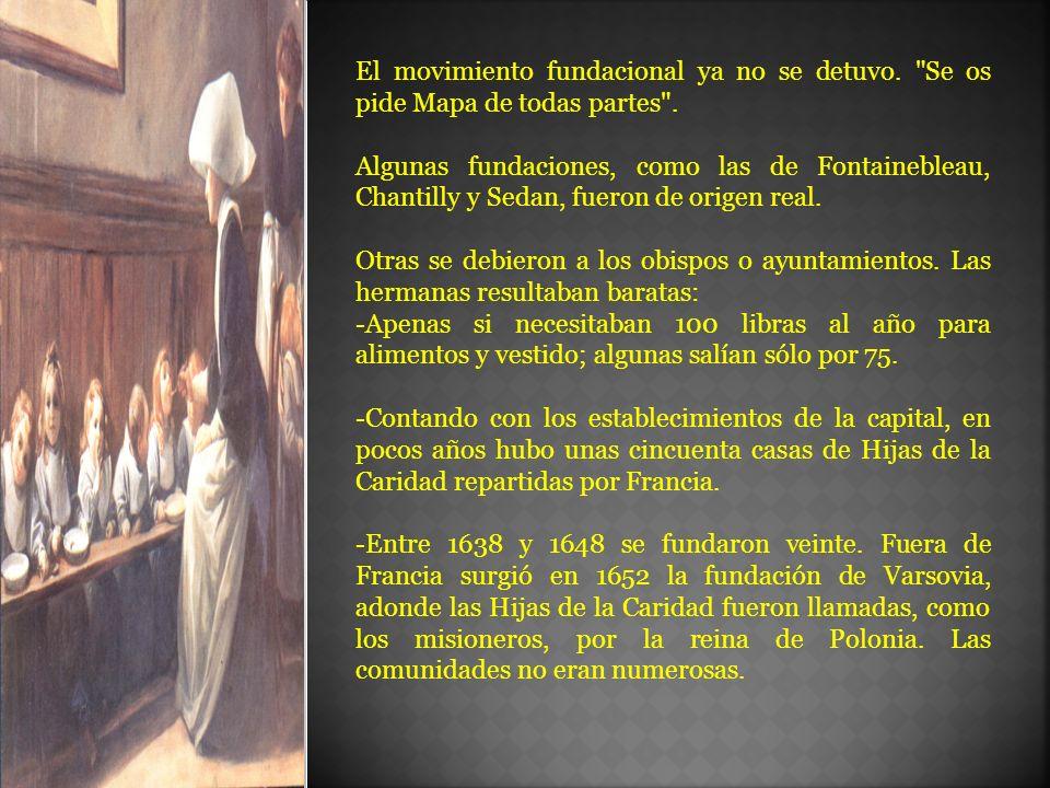 Parroquias, escuelas, hospitales El trabajo variaba poco de una fundación a otra.