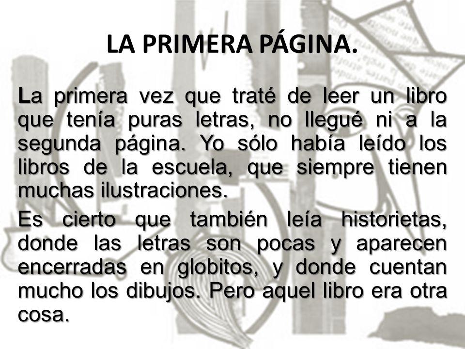 LA PRIMERA PÁGINA.