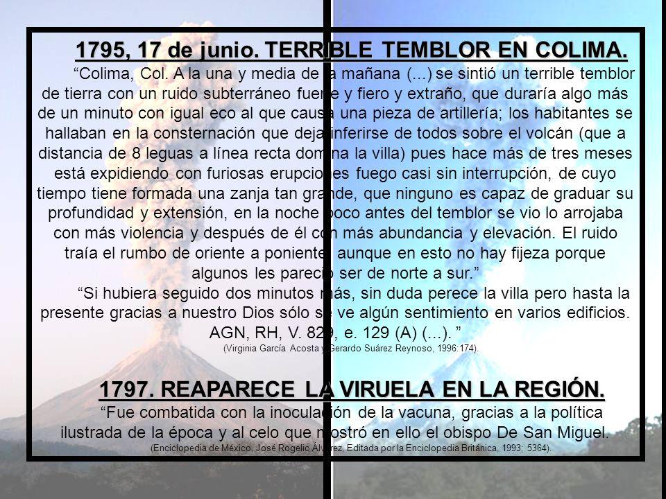 1794.CENSO APROXIMADO DE LA POBLACIÓN DE LA NUEVA ESPAÑA en este año: 5, 200, 000 habitantes.