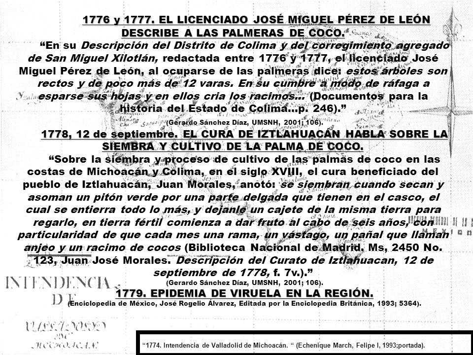 VIRREINATO-13- CAPITULO VII (1700 – 1799) LA VIDA EN LA VILLA DE NUESTRA SEÑORA DE LA CONCEPCIÓN DE ZACATULA EN EL SIGLO XVIII.