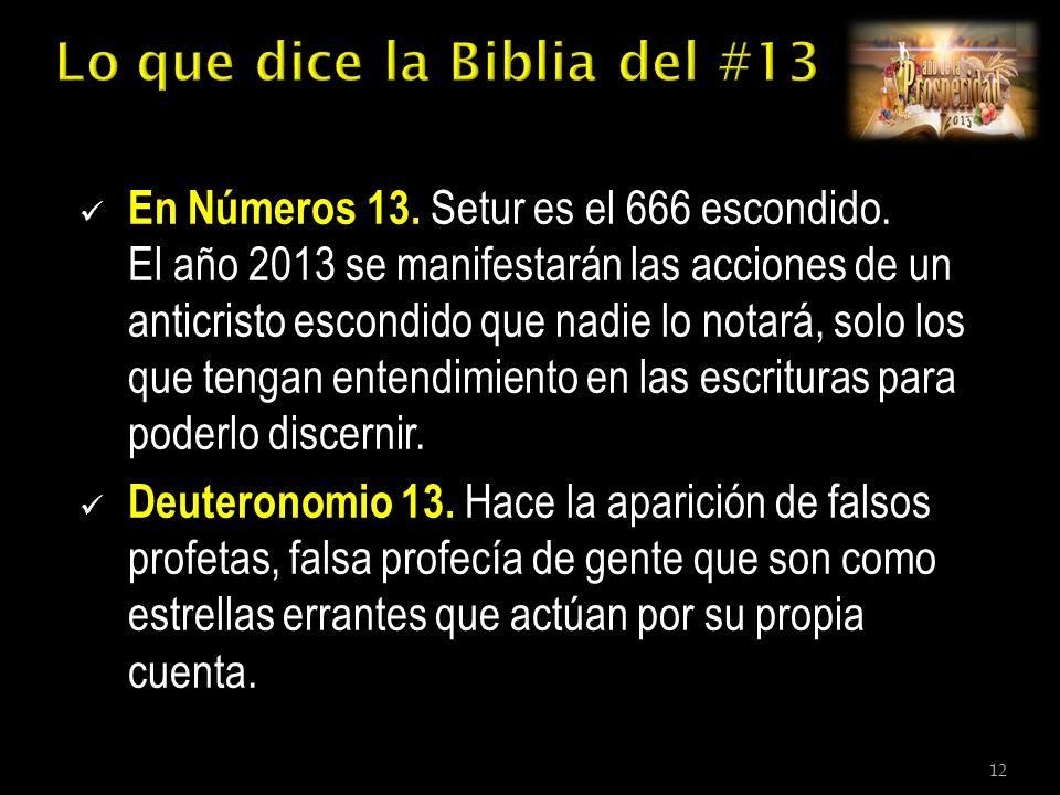 En Números 13. Setur es el 666 escondido.