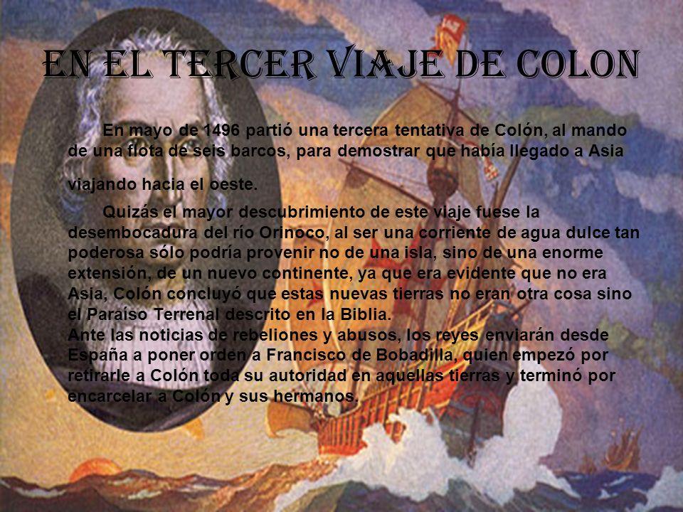 El cuarto viaje de Colon