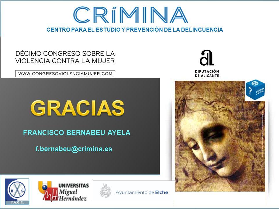 CENTRO PARA EL ESTUDIO Y PREVENCIÓN DE LA DELINCUENCIA FRANCISCO BERNABEU AYELA f.bernabeu@crimina.es