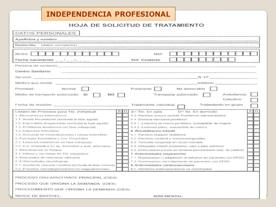 INDEPENDENCIA PROFESIONAL