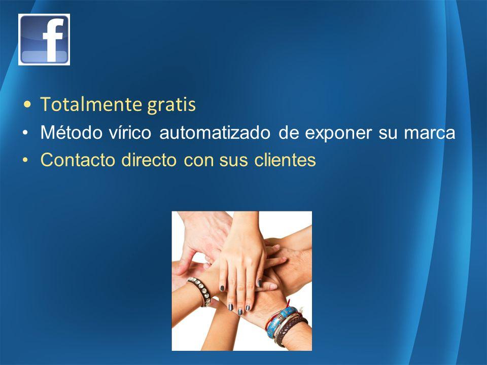 Totalmente gratis Método vírico automatizado de exponer su marca Contacto directo con sus clientes