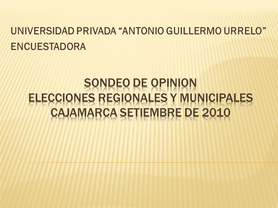 Titulo del Estudio Objetivos del Estudio Trabajo de Campo Población Objetivo Segmentación Geográfica Encuesta de Opinión en Cajamarca Preferencia electoral regional y municipal del Dpto.