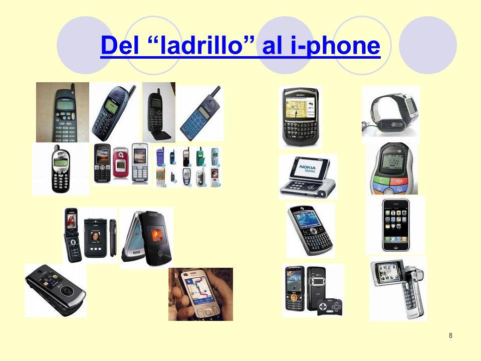 9 El i-phone de apple Tecnología 3G, Mapas con GPS, compatibilidad con aplicaciones de empresa como Microsoft Exchange y el nuevo App Store.