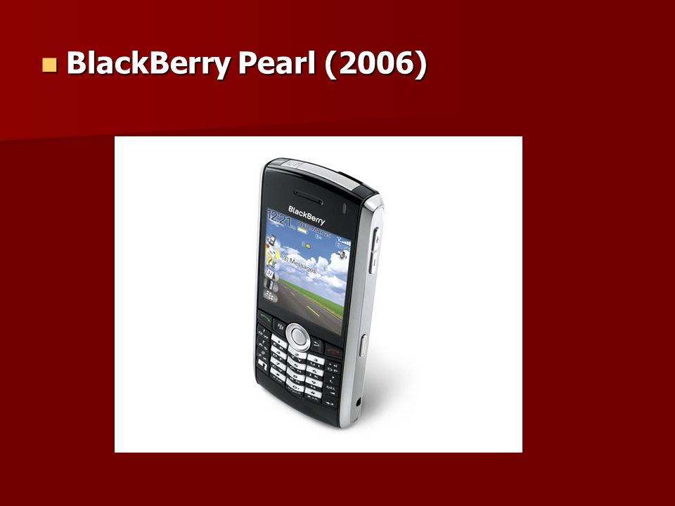 BlackBerry Pearl (2006) BlackBerry Pearl (2006)