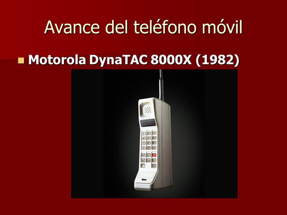Avance del teléfono móvil Motorola DynaTAC 8000X (1982) Motorola DynaTAC 8000X (1982)