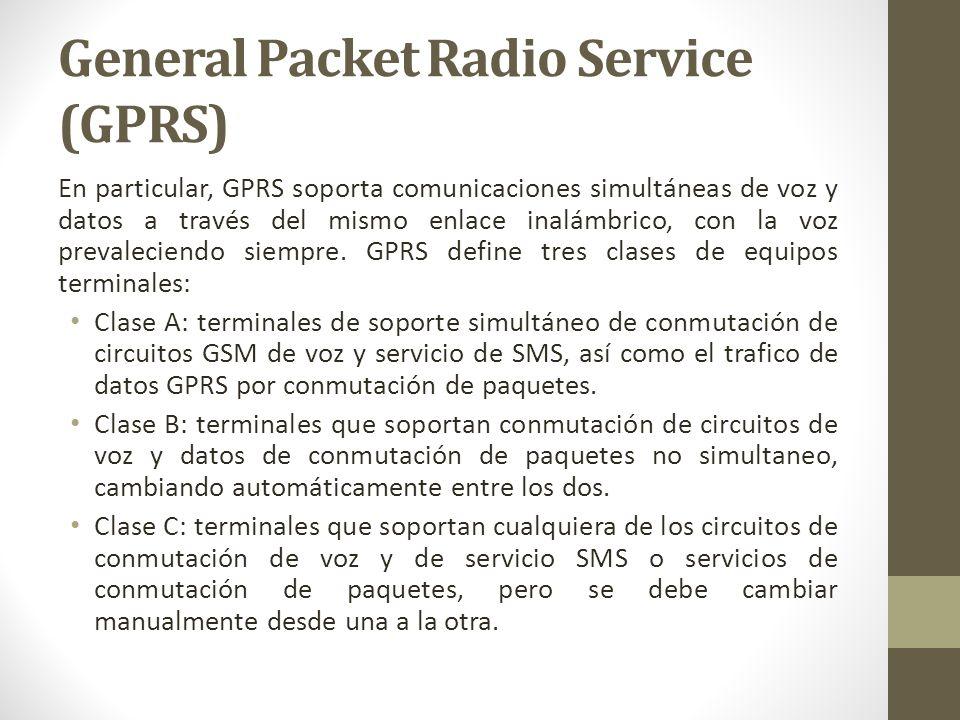En particular, GPRS soporta comunicaciones simultáneas de voz y datos a través del mismo enlace inalámbrico, con la voz prevaleciendo siempre. GPRS de