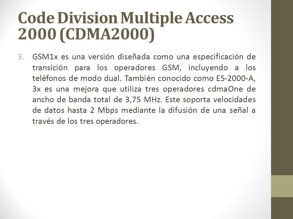 3.GSM1x es una versión diseñada como una especificación de transición para los operadores GSM, incluyendo a los teléfonos de modo dual. También conoci