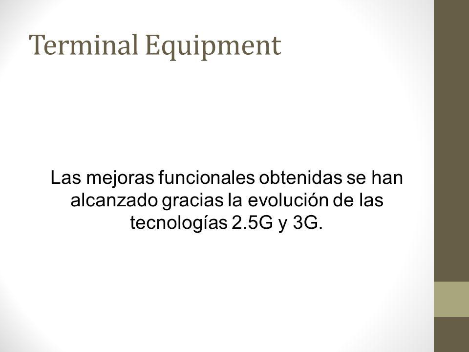 Terminal Equipment Las mejoras funcionales obtenidas se han alcanzado gracias la evolución de las tecnologías 2.5G y 3G.