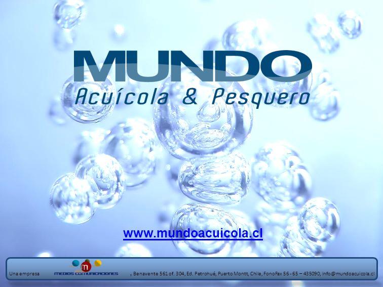 www.mundoacuicola.cl Una empresa, Benavente 561 of. 304, Ed. Petrohué, Puerto Montt, Chile, FonoFax 56 - 65 – 435090, info@mundoacuicola.cl