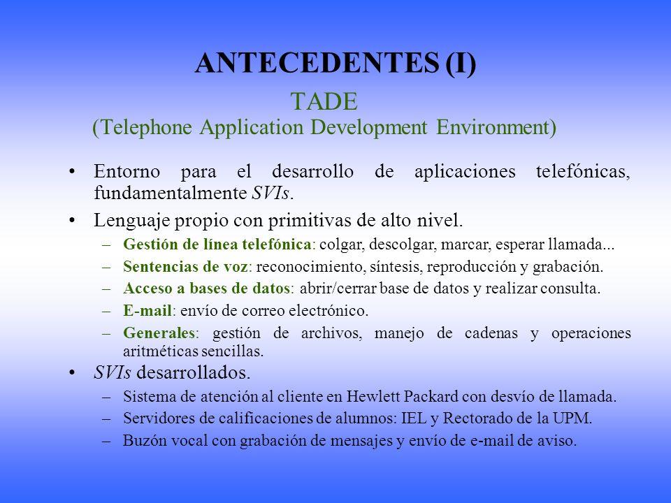 ANTECEDENTES (II) TIDAISL (Telefónica I+D Aislada) Proyecto realizado en colaboración con Telefónica I+D.