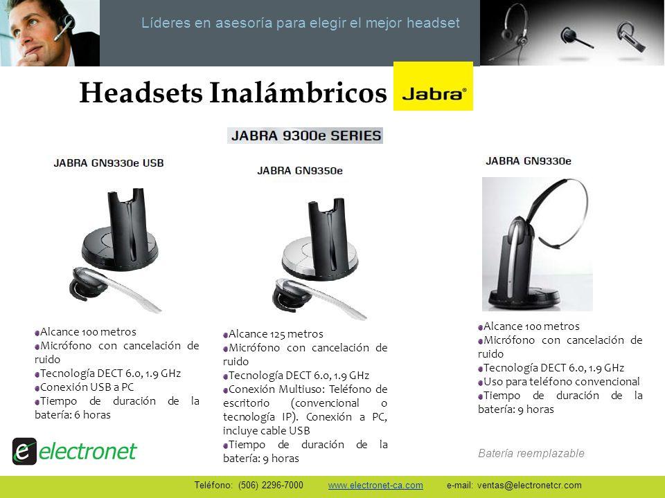 Líderes en asesoría para elegir el mejor headset Headsets Inalámbricos Alcance 125 metros Micrófono con cancelación de ruido Tecnología DECT 6.0, 1.9