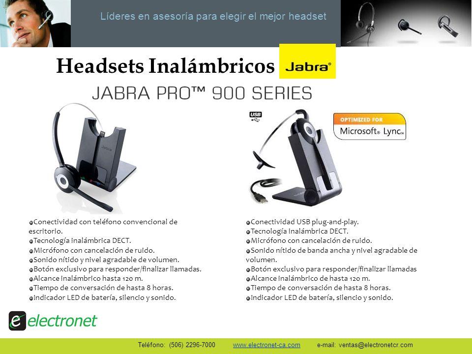 Líderes en asesoría para elegir el mejor headset Headsets Inalámbricos Conectividad con teléfono convencional de escritorio. Tecnología inalámbrica DE