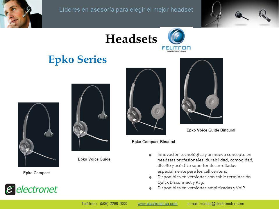 Líderes en asesoría para elegir el mejor headset Headsets Innovación tecnológica y un nuevo concepto en headsets profesionales: durabilidad, comodidad