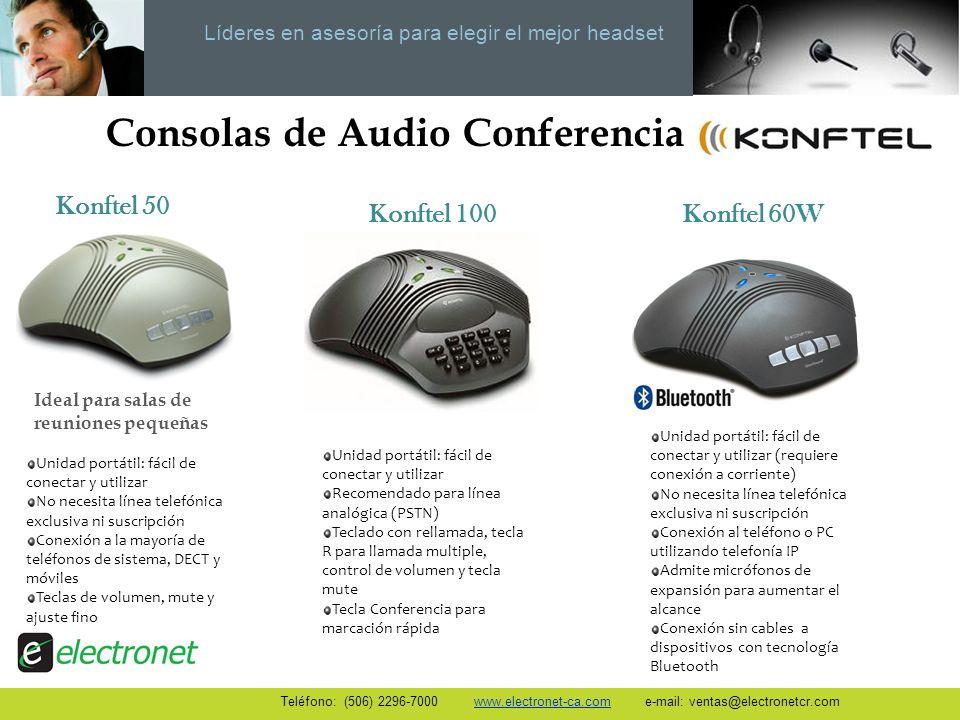 Líderes en asesoría para elegir el mejor headset Consolas de Audio Conferencia Unidad portátil: fácil de conectar y utilizar No necesita línea telefón
