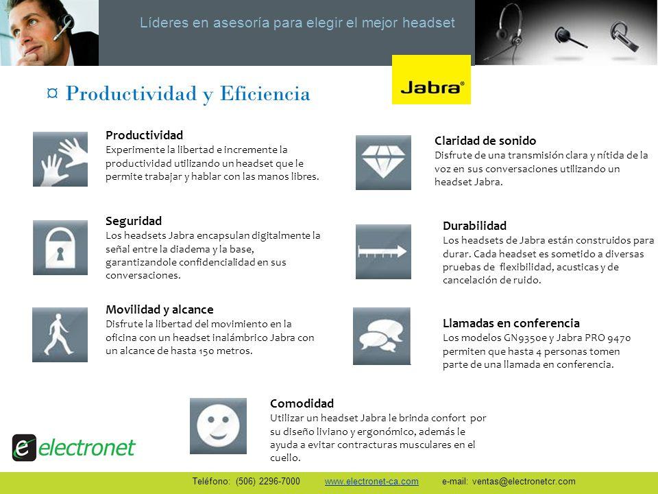 Líderes en asesoría para elegir el mejor headset Teléfono: (506) 2296-7000 www.electronet-ca.com e-mail: ventas@electronetcr.com Snom 821Snom 870 Pantalla TFT en color de alta resolución.