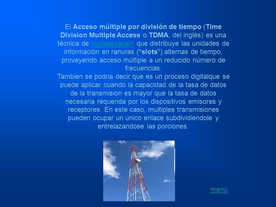 El Acceso múltiple por división de tiempo (Time Division Multiple Access o TDMA, del inglés) es una técnica de multiplexación que distribuye las unida
