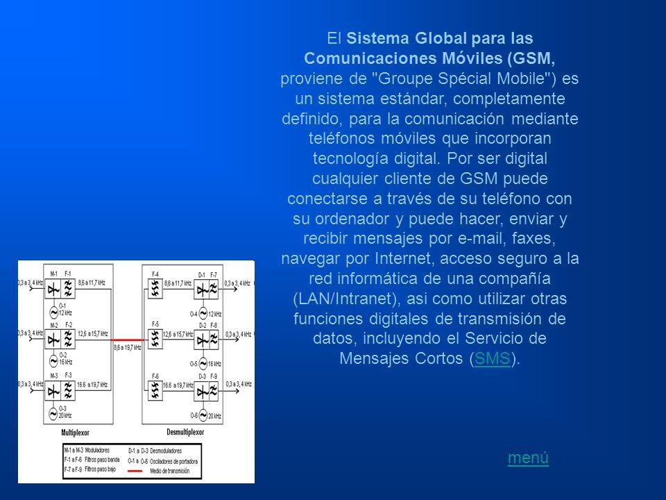 El Sistema Global para las Comunicaciones Móviles (GSM, proviene de