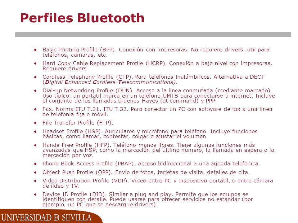 Perfiles Bluetooth Basic Printing Profile (BPP).Conexión con impresoras.