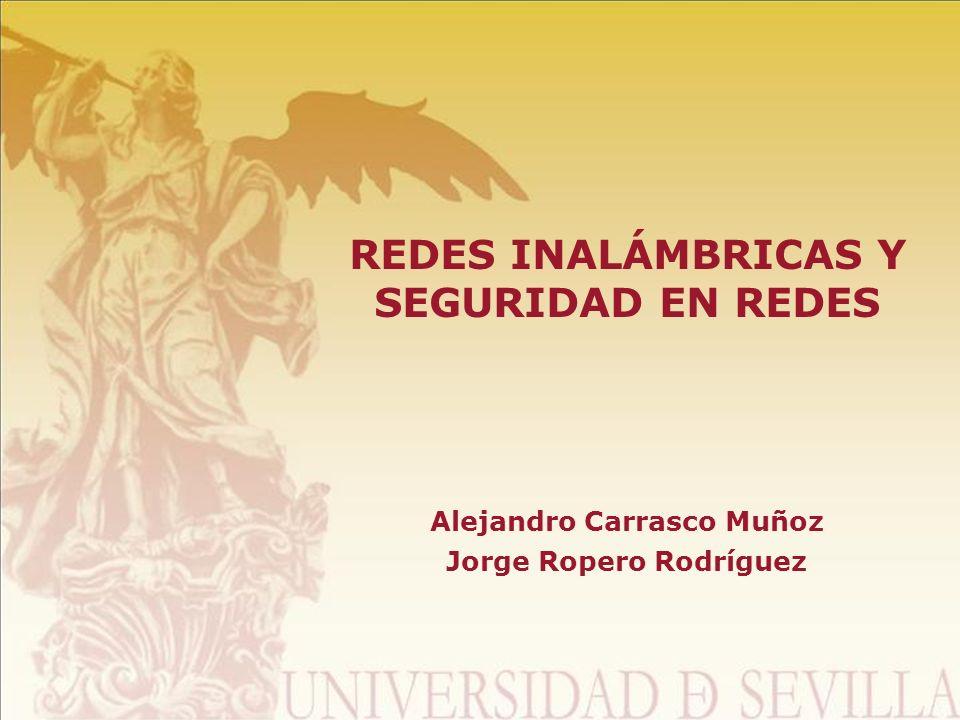 REDES INALÁMBRICAS Y SEGURIDAD EN REDES Alejandro Carrasco Muñoz Jorge Ropero Rodríguez