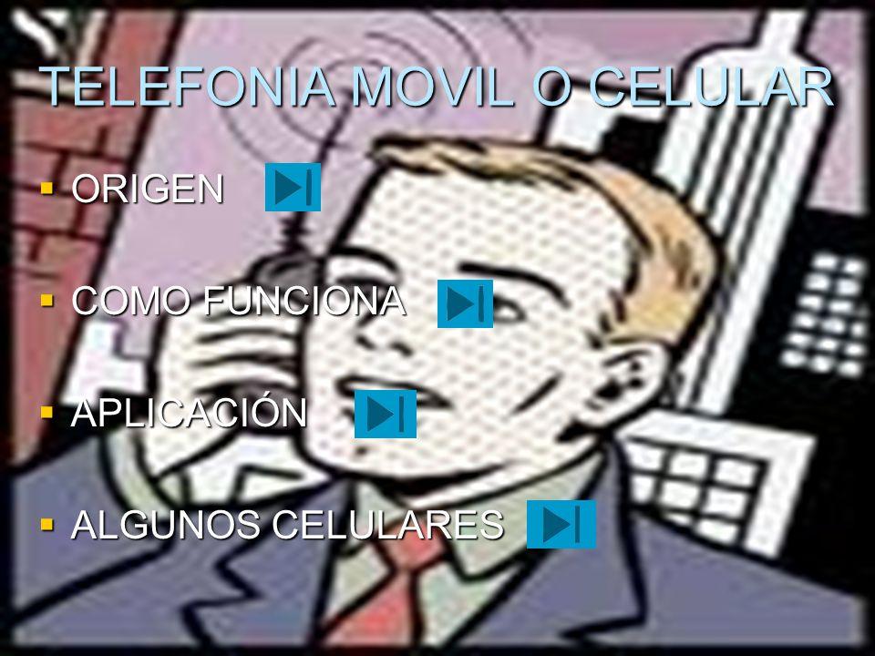 ORIGEN El teléfono móvil se creo con fines militares pero hoy todos hacemos uso de uno de ellos y gracias a la tecnología se viene reformando cada día mas El teléfono móvil se creo con fines militares pero hoy todos hacemos uso de uno de ellos y gracias a la tecnología se viene reformando cada día mas la historia del origen es que este teléfono móvil se remonta a los inicios de la segunda guerra mundial los la empresa Motorola al ver que era necesario la comunicación móvil a distancia crea un equipo llamado Handie Tal kíe H12-16 que era un equipo que permitía el contacto entre tropas por medio de hondas de radio cuya banda en ese tiempo no superaba los 60 MHz la historia del origen es que este teléfono móvil se remonta a los inicios de la segunda guerra mundial los la empresa Motorola al ver que era necesario la comunicación móvil a distancia crea un equipo llamado Handie Tal kíe H12-16 que era un equipo que permitía el contacto entre tropas por medio de hondas de radio cuya banda en ese tiempo no superaba los 60 MHz