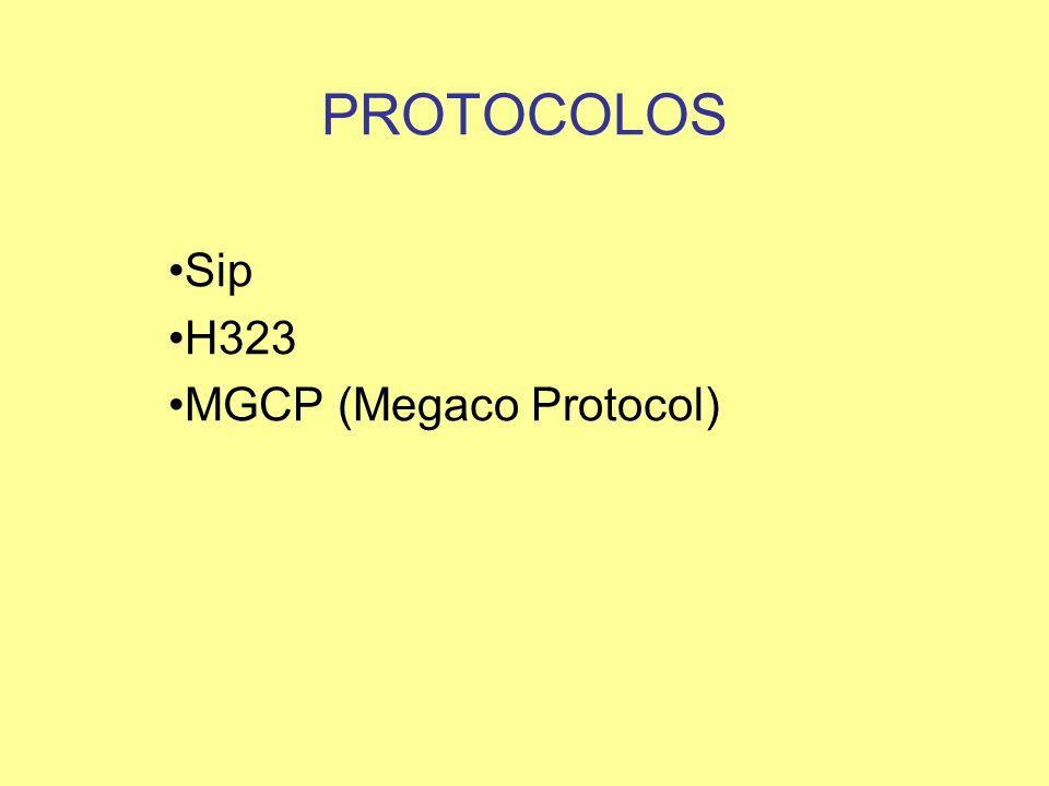 PROTOCOLOS Sip H323 MGCP (Megaco Protocol)