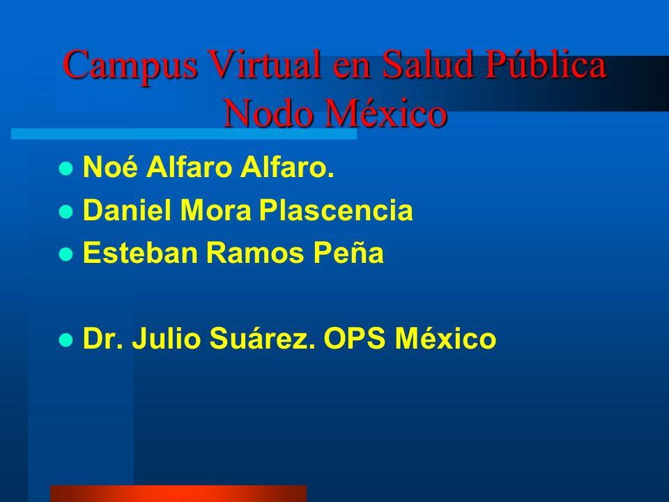 Campus Virtual en Salud Pública Nodo México Noé Alfaro Alfaro.