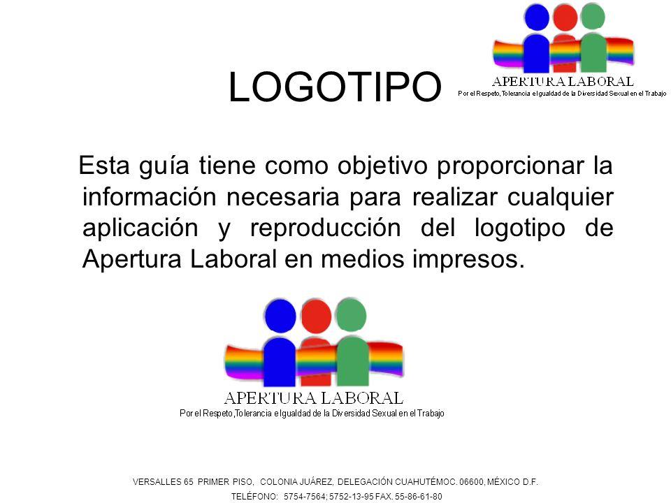 LOGOTIPO Esta guía tiene como objetivo proporcionar la información necesaria para realizar cualquier aplicación y reproducción del logotipo de Apertur
