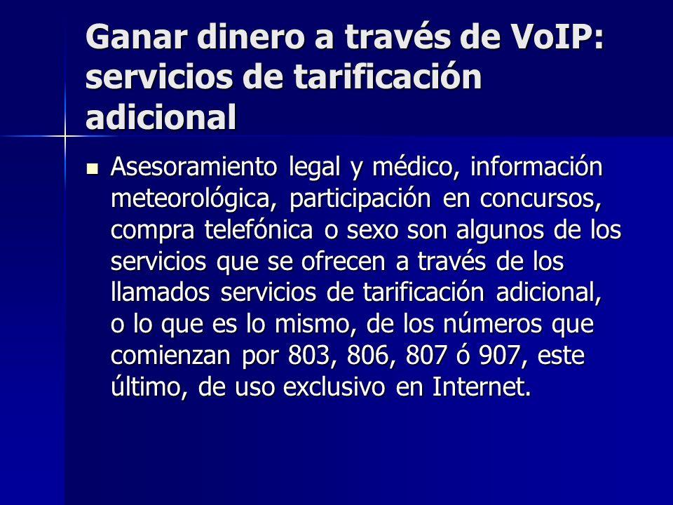 Ganar dinero a través de VoIP: servicios de tarificación adicional Asesoramiento legal y médico, información meteorológica, participación en concursos