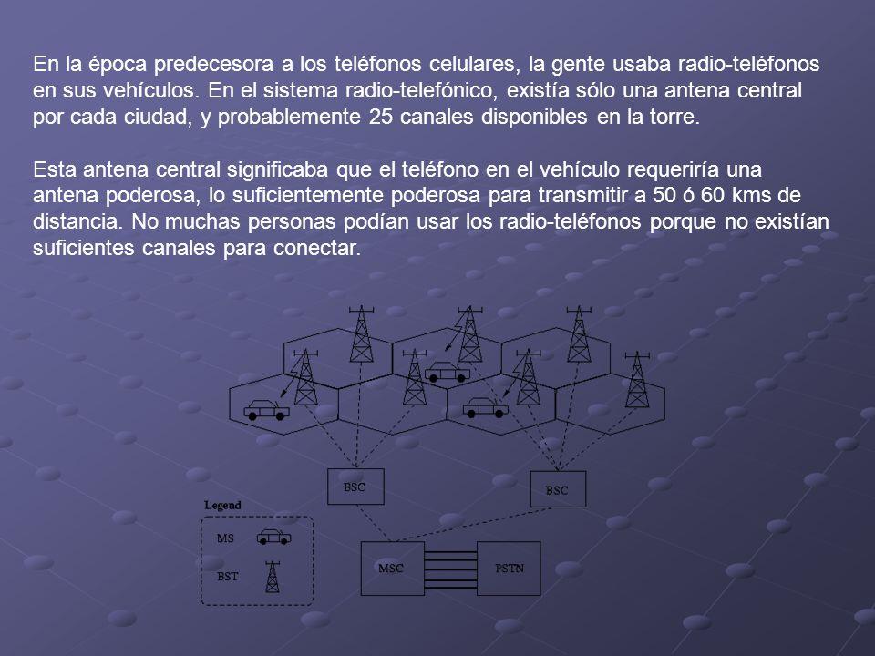 En la época predecesora a los teléfonos celulares, la gente usaba radio-teléfonos en sus vehículos. En el sistema radio-telefónico, existía sólo una a