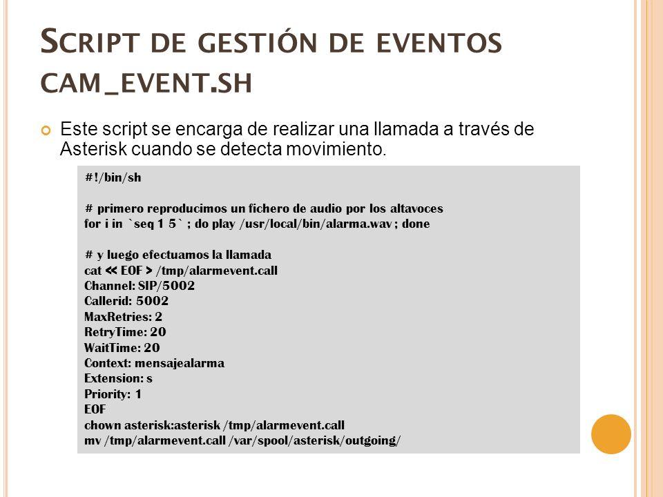 S CRIPT DE GESTIÓN DE EVENTOS CAM _ EVENT.