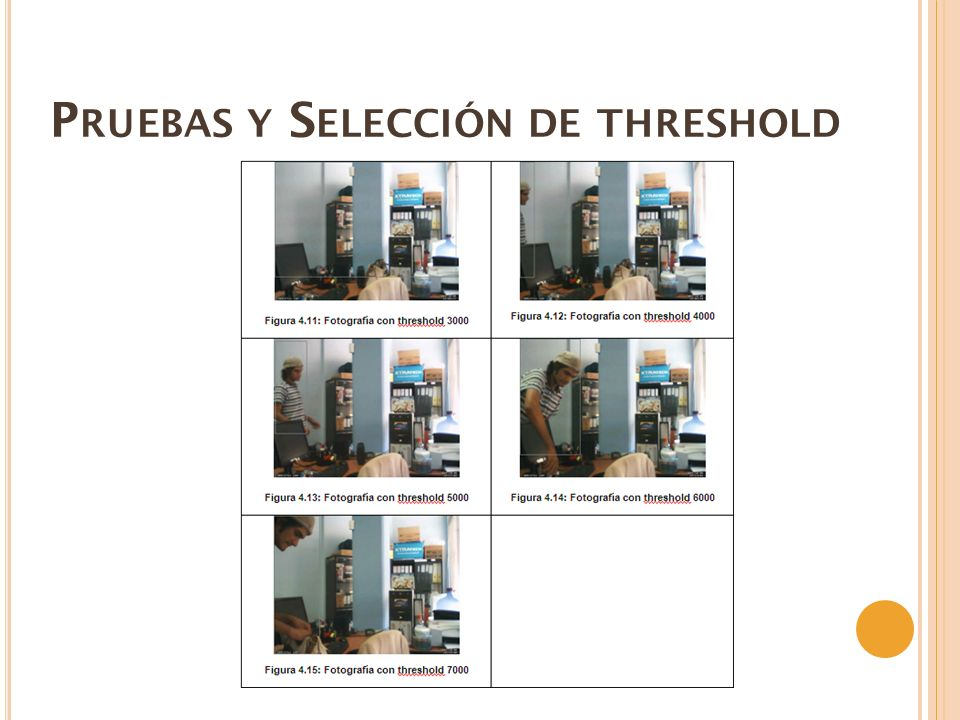 P RUEBAS Y S ELECCIÓN DE THRESHOLD