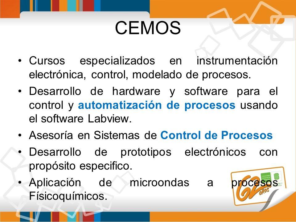 CEMOS Cursos especializados en instrumentación electrónica, control, modelado de procesos. Desarrollo de hardware y software para el control y automat