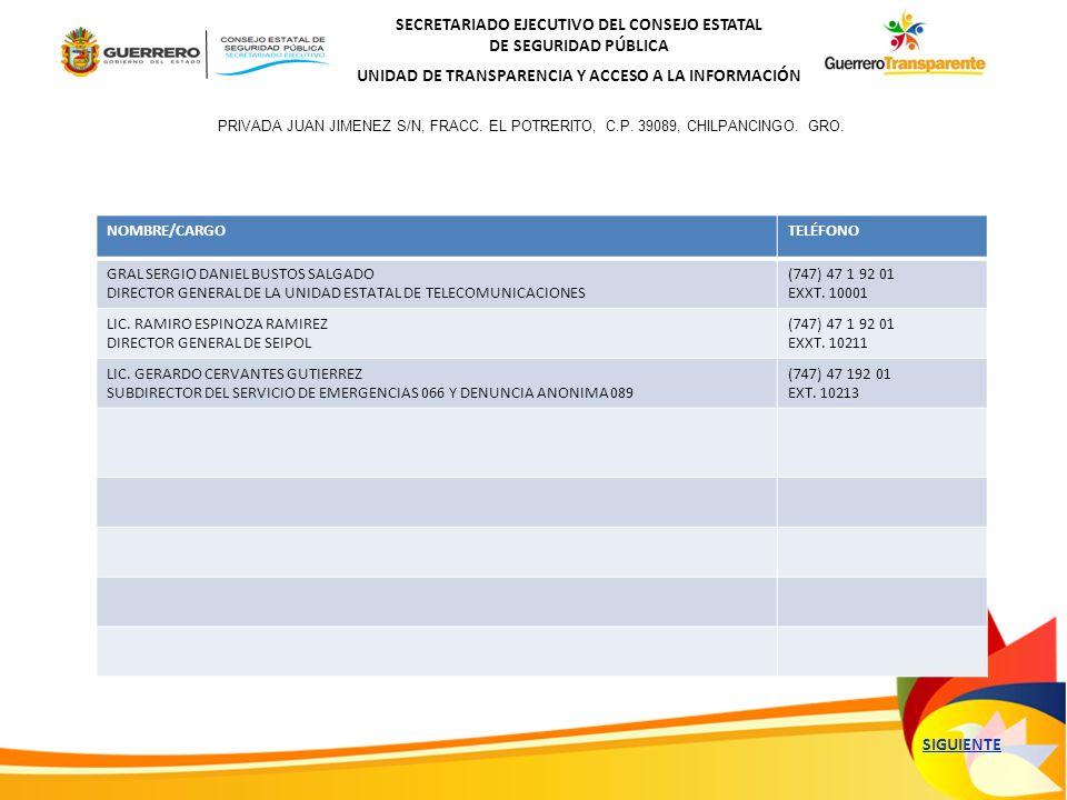 SECRETARIADO EJECUTIVO DEL CONSEJO ESTATAL DE SEGURIDAD PÚBLICA UNIDAD DE TRANSPARENCIA Y ACCESO A LA INFORMACIÓN GRACIAS POR VISITAR EL ORGANIGRAMA DEL SECRETARIADO EJECUTIVO DEL CONSEJO ESTATAL DE SEGURIDAD PÚBLICA Salir