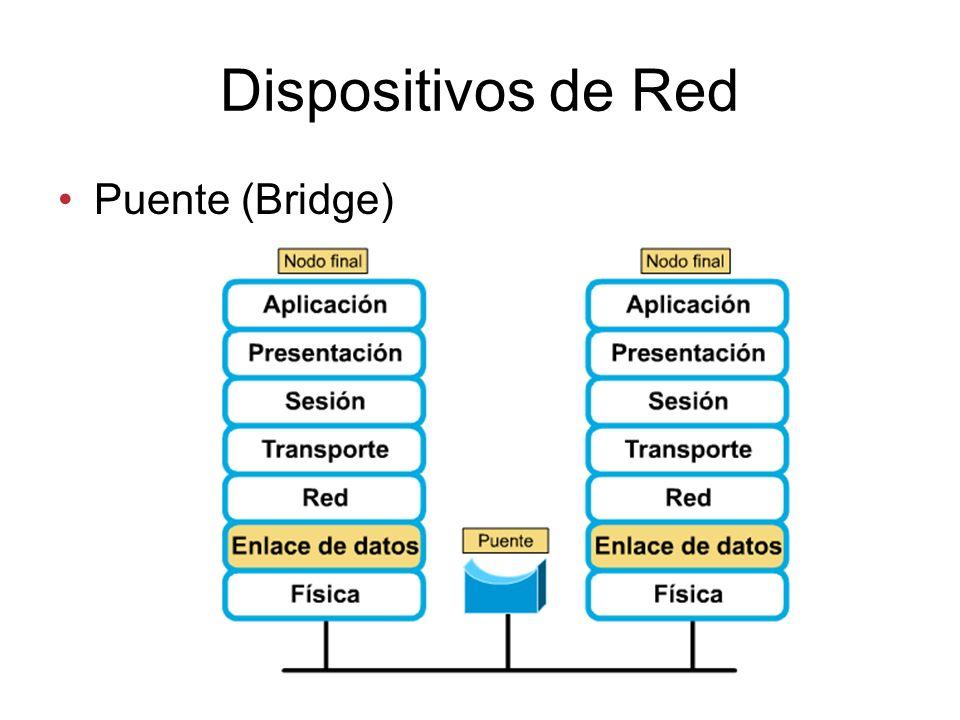 Dispositivos de Red Puente (Bridge)