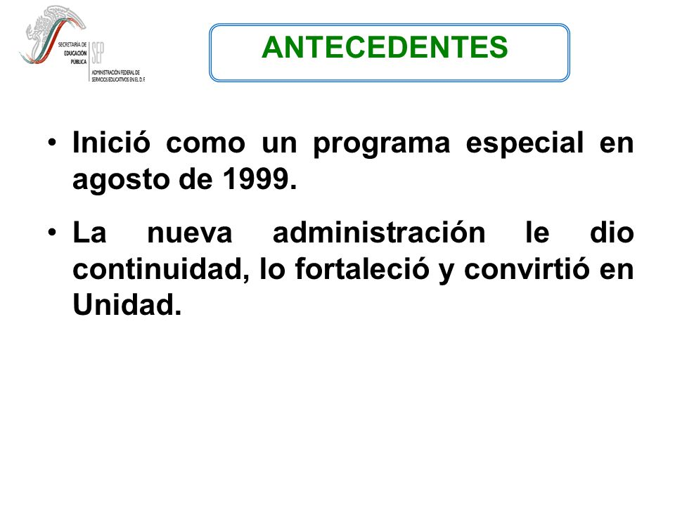Inició como un programa especial en agosto de 1999.