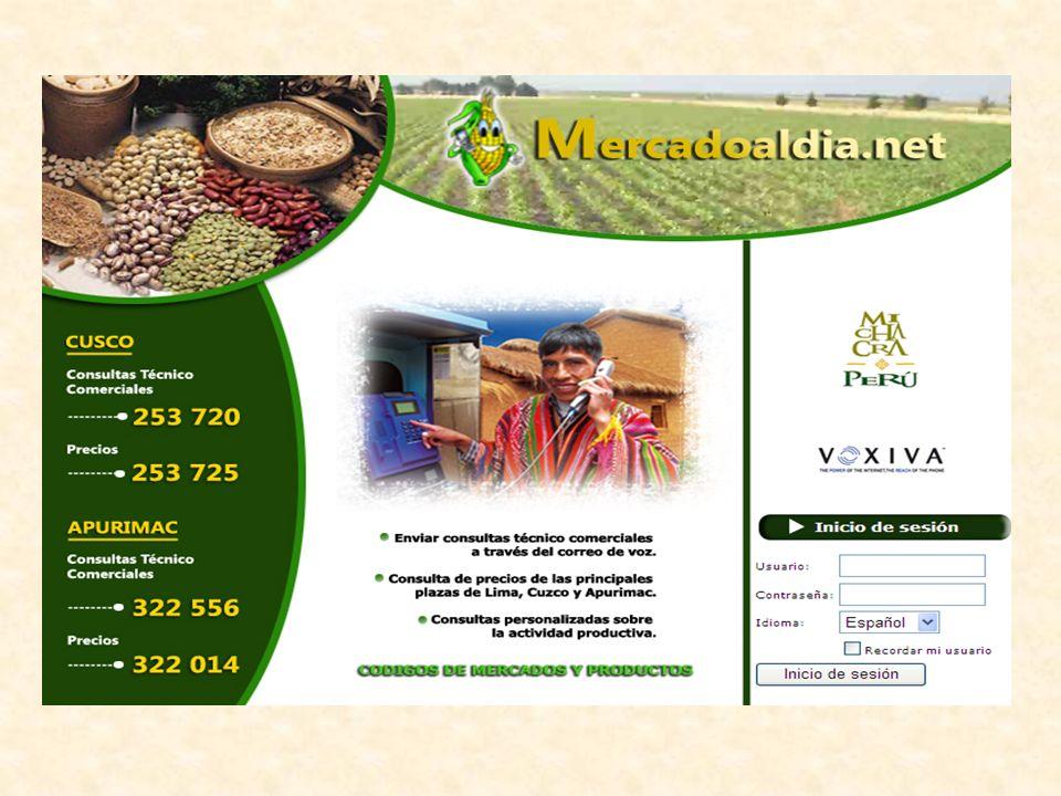 Mercadoaldia.net nace con la intención de contribuir a la transparencia del mercado, mediante un sistema de información en línea para la toma de decisiones y por ende mejorar los ingresos del pequeño productor.